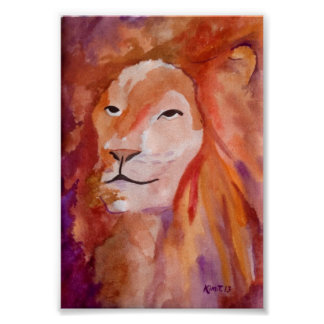El león (arte de Kimberly Turnbull) Posters