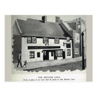 El león británico tarjetas postales