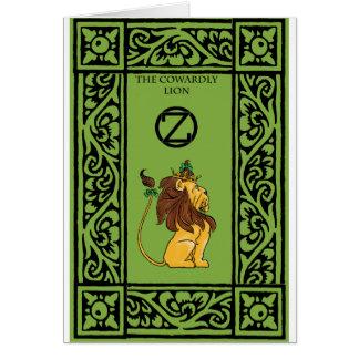 El león cobarde tarjeta de felicitación