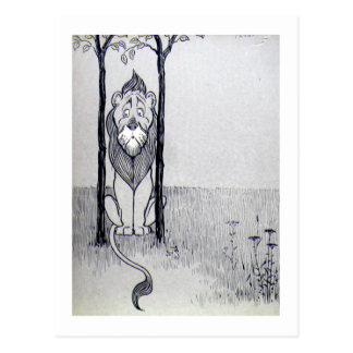 El león cobarde tarjeta postal