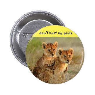 El león Cub abotona Pin Redondo De 2 Pulgadas