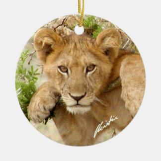 El león Cub adorna 2-sided Ornamento De Reyes Magos