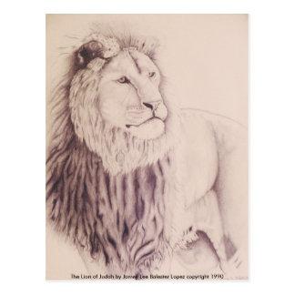 El león de Judah - dibuje a lápiz en el papel Var Postales