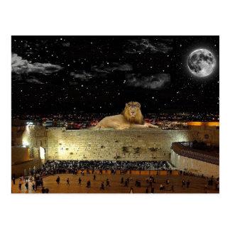 El león de Judah en la pared occidental Tarjeta Postal