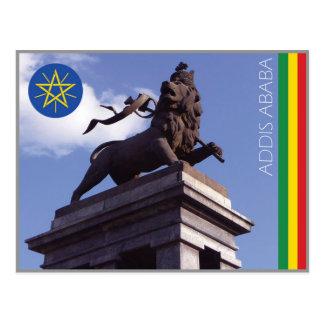 El león de Judah, postal de Addis Ababa - de