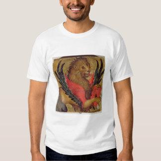 El león de St Mark (aceite en el panel) Poleras