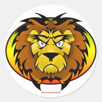 El león de Zion Pegatina Redonda