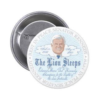 El león del RASGÓN Ted Kennedy de los sueños del s Pin Redondo 5 Cm