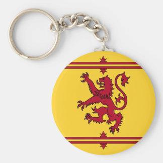 El león desenfrenado de Escocia Llavero Redondo Tipo Pin