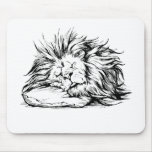 el León-dormir Tapetes De Ratones