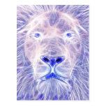 El león eléctrico tarjetas postales