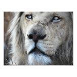 El león escucha mi latido del corazón invitación 10,8 x 13,9 cm