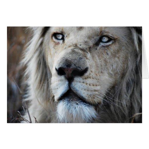 El león escucha mi latido del corazón tarjeta de felicitación