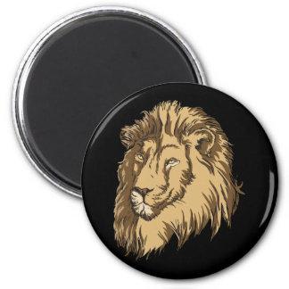 El león imán de frigorífico