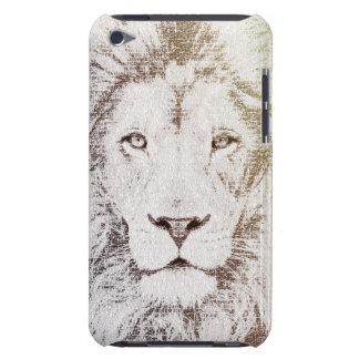 El león intelectual - arte de la tipografía iPod touch Case-Mate fundas