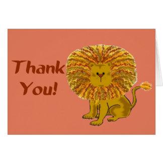 El león le agradece cardar la plantilla felicitación