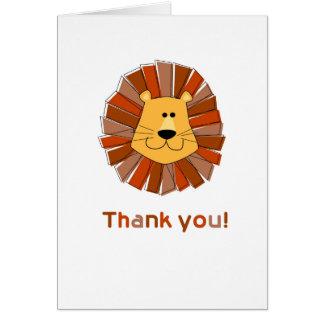 El león le agradece las tarjetas