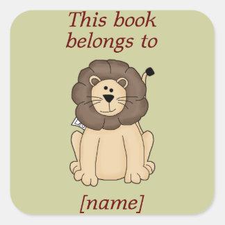 El león lindo este libro pertenece al pegatina de