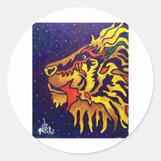 El león por Piliero Etiqueta Redonda