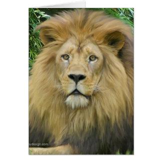 El león tarjeta