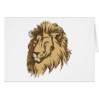 El león tarjetas