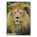 El león tarjeta de felicitación