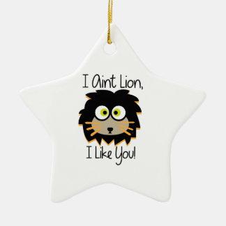 El león tiene gusto adorno de cerámica en forma de estrella