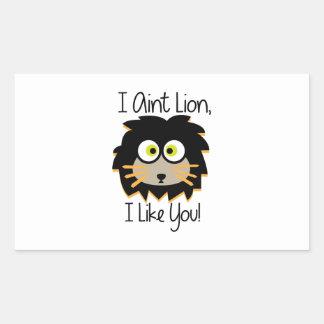 El león tiene gusto pegatina rectangular