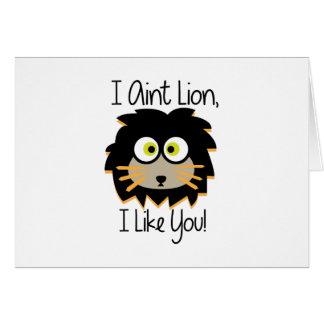 El león tiene gusto tarjeta de felicitación