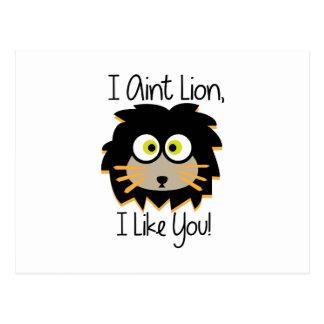 El león tiene gusto postal