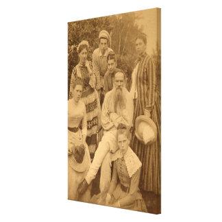 El León Tolstói autor con su familia Lona Estirada Galerias