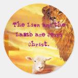 El león y el cordero pegatina