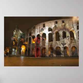 El león y el gladiador en Roma Posters