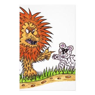 El león y el perrito papelería personalizada