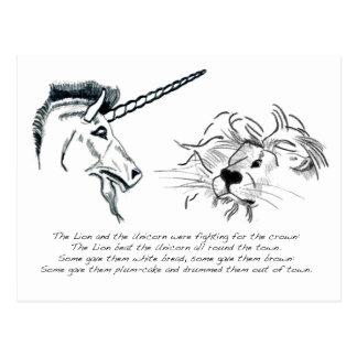 El león y el unicornio postales