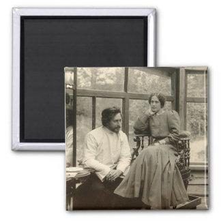 El Leonid Andreyev autor con su esposa Iman