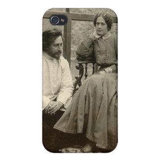El Leonid Andreyev autor con su esposa iPhone 4 Carcasa