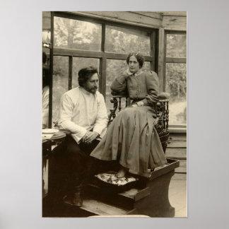 El Leonid Andreyev autor con su esposa Impresiones