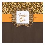 El leopardo anaranjado de Brown mancha la invitaci Anuncios