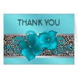 El leopardo azul del trullo negro le agradece las  tarjeta