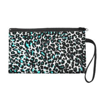El leopardo azul mancha el modelo