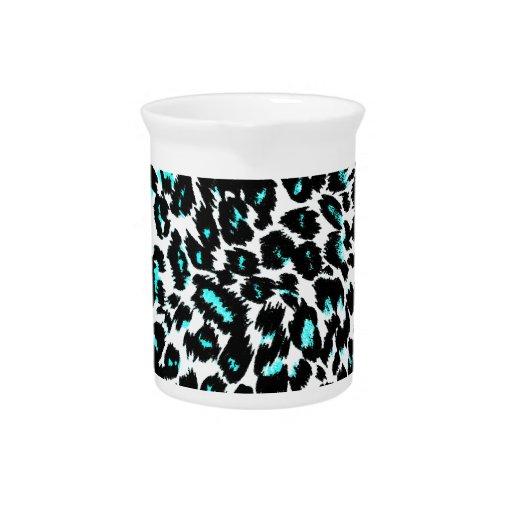 El leopardo azul mancha el modelo jarrón
