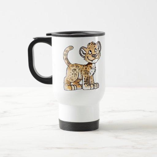 El leopardo Cub viaja taza
