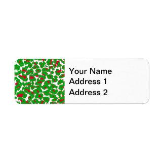 El leopardo del navidad mancha el modelo etiqueta de remitente