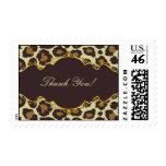 El leopardo elegante de Brown le agradece sello de