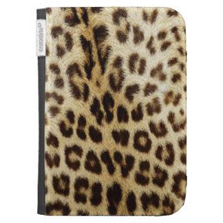 El leopardo enciende la caja en folio
