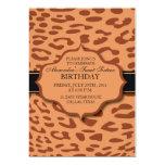El leopardo - inusual - cumpleaños invita invitación 12,7 x 17,8 cm
