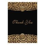 El leopardo le agradece las tarjetas invitacion personalizada