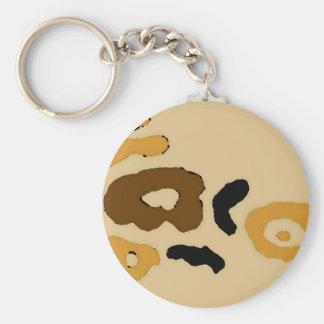 """El """"leopardo mancha"""" el arte y el diseño de llavero redondo tipo pin"""