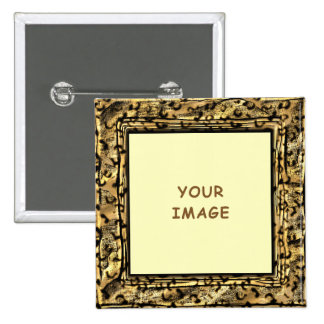 El leopardo mancha el botón del marco de la foto pin
